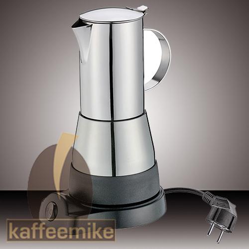 "Cilio Premium ""Lisboa"" Edelstahl 4 Tassen elektrischer Espressok"