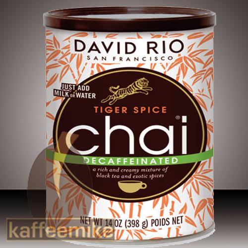 David Rio entkoffeiniert Tiger Spice Chai Tee 398g