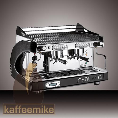 Royal Synchro Espressomaschine - 2gruppig schwarz