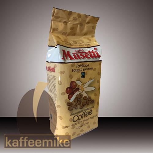 Musetti Caffe Fairtrade 1000g Bohne