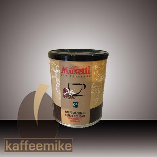 Musetti Caffe Fairtrade 250g Dose gemahlen