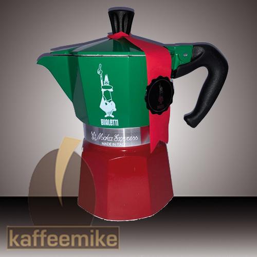 Bialetti Moka Tricolore Express Espressokocher 3 Tassen