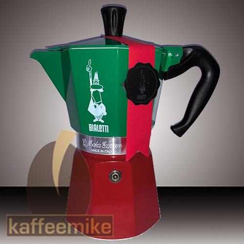 Bialetti Moka Tricolore Express Espressokocher 6 Tassen