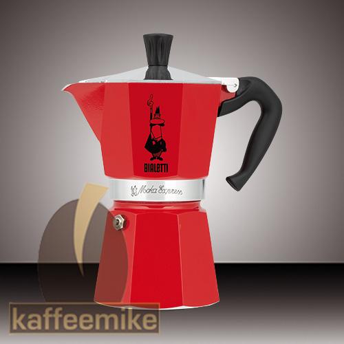 Bialetti Moka Express Espressokocher Rot 3 Tassen