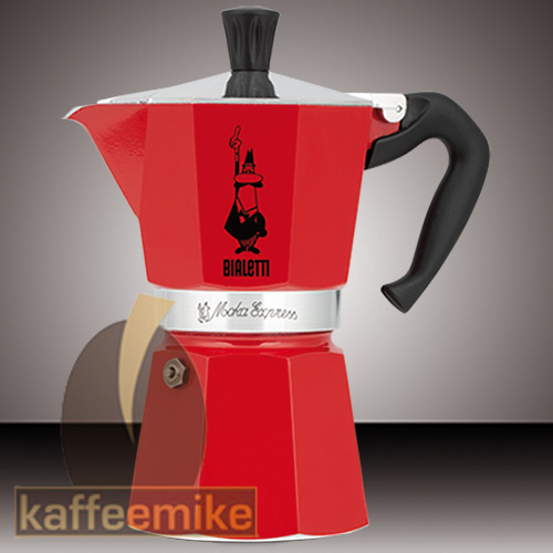 Bialetti Moka Express Espressokocher Rot 6 Tassen