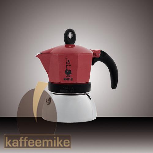 Bialetti Moka Induction Espressokocher 2 Tassen Rot