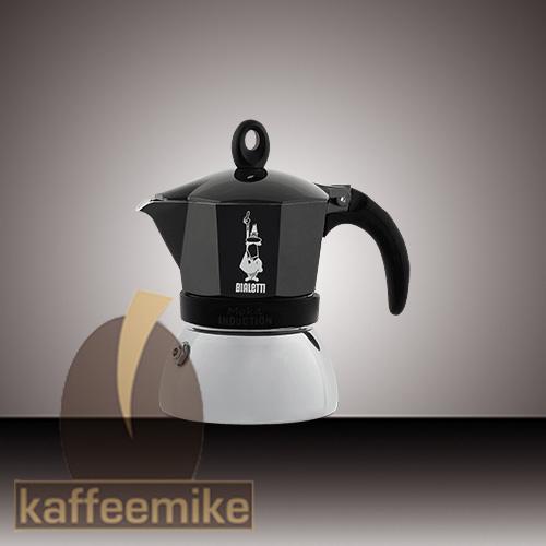 Bialetti Moka Induction Espressokocher 2 Tassen Schwarz