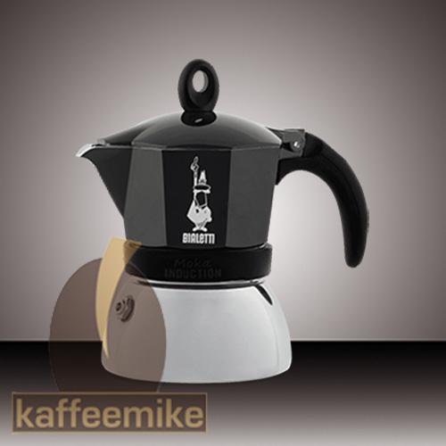 Bialetti Moka Induction Espressokocher 4 Tassen Schwarz