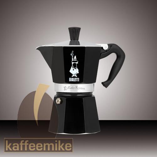 Bialetti Moka Express Espressokocher Schwarz 3 Tassen