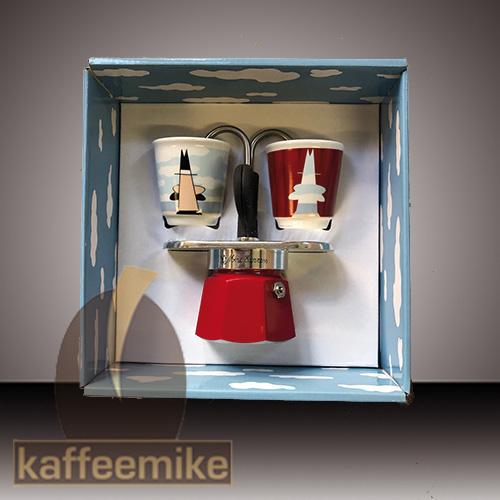 Bialetti Mini Express Magrite incl. 2 Espressobecher