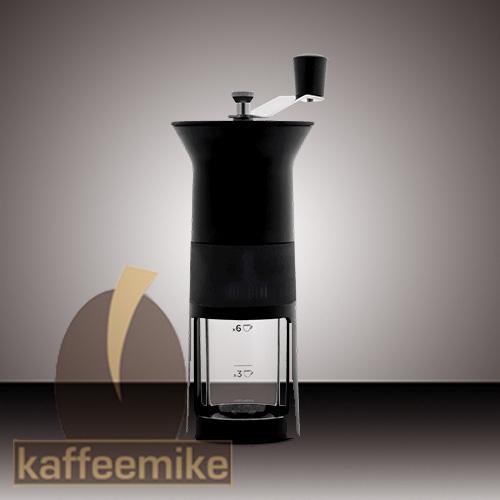 Bialetti Hand Kaffeemuehle, Macina Caffe schwarz mit Keramikmahl
