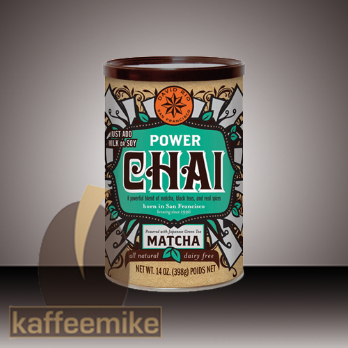David Rio Power Matcha Chai Tee 398g Dose