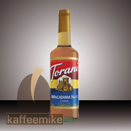 Torani Sirup Macadamia Nut 0,75l Flasche