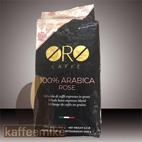 Oro Caffe 100% Arabica Rose 1000g Bohne