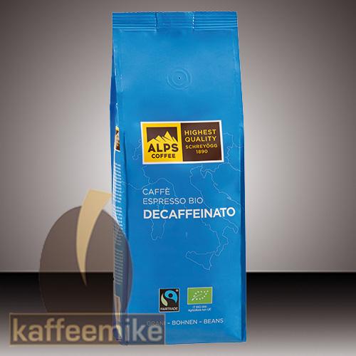 Alps Coffee Decaffeinato Bio Espresso Kaffee - 500g Bohnen