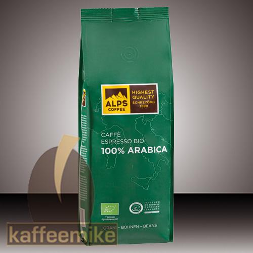 Alps Coffee Schreyoegg 100% Arabica Bio Kaffee Espresso - 500g B
