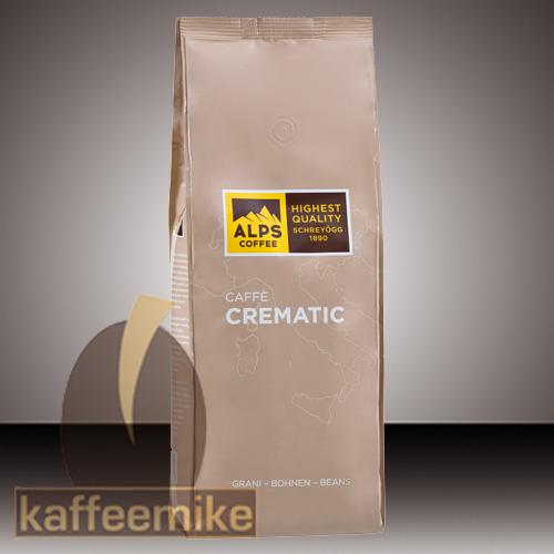 Alps Coffee Schreyoegg Caffe Crematic Espresso Kaffee - 1000g Bo