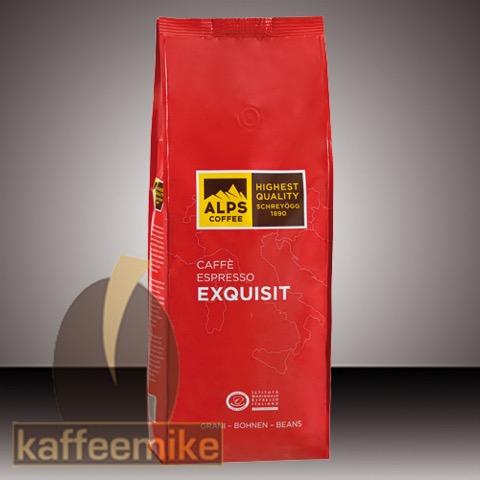 Alps Coffee Schreyoegg Exquisit Espresso Kaffee - 1000 g Bohnen