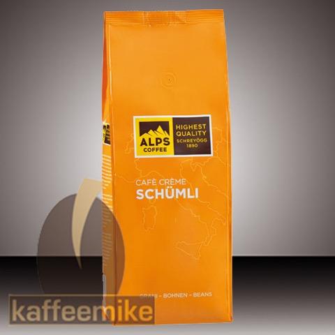 Alps Coffee Schreyoegg Crema Schuemli Espresso Kaffee - 1000g Bo
