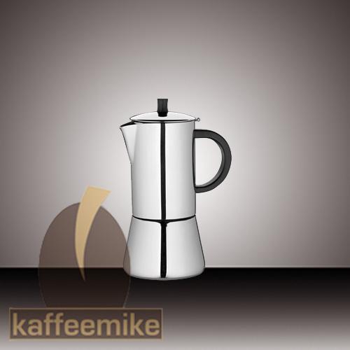 """Cilio Premium """"Figaro"""" Edelstahl 2 Tassen Espressokocher"""