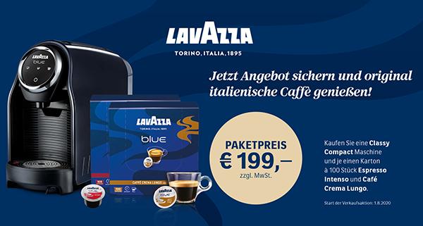 Lavazza Aktion Paketpreis Maschine + Kapseln